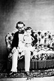 Emperor Napoléon III with the Prince Imperial  C1860