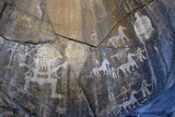 Rock Petroglyphs of Horses  People  Stupas  C1st Millenium Ad  Chilas  Pakistan