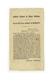 Andrew Johnson on Negro Suffrage  His Letter to Gov Sharkey of Mississippi  15 August 1865