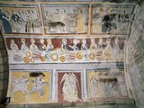 Apse Frescoes Depicting Scenes from the Passion of Christ and the Life of Saint Olalla  Including…