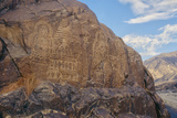 Rock Petroglyphs of Buddha and Stupas  Granite  C500-800 Ad  Chilas  Pakistan