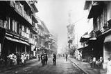 Borah Bazaar Street  Bombay  C1870s