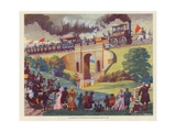 The Opening of the Stockton and Darlington Railway  Macmillan Poster  1825