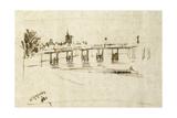 Old Battersea Bridge  C1890