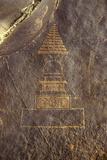 Rock Petroglyphs on a Granite Stupa  C200-800 Ad  Chilas  Pakistan