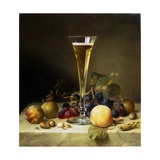 Still Life with a Glass of Champagne  1855