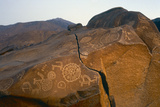 Rock Petroglyphs of Wild Animals and Sun Wheels  after Buddhist Sun Cult  Later Than 800 Ad …