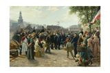 Arrival of King Wilhelm I of Prussia in Saarbrücken on 9 August 1870  1877