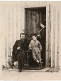 Photograph of Ulysses S Grant  Julia and Jesse Grant at City Point  Va  1865  Printed C1940s