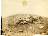 Dead Confederate Soldier Badly Mutilated in Field Near Rose Woods  Gettysburg  5 July 1863