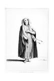 A French Jewish Man Dressed for Prayer  Illustration from Dictionnaire Historique De La Bible  1722