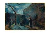 Along the Wall at Nightfall  1881