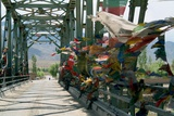 Bridge across the Indus River  Choglamsar  Ladakh  India