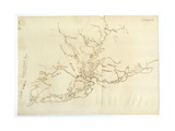 Map of Charleston  South Carolina  3 August 1781