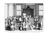 Showing the Law to the People in the Synagogue before Commencing the Reading  1725