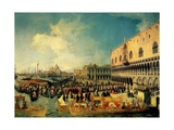 Reception of the Imperial Ambassador at the Doge's Palace  1729