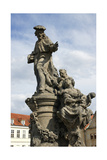 Saint Ivo of Kermartin  TOSF (1253-1303) Baroque Sculpture by Matyas Bernard Braun on Behalf…