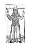 Jewish High Priest  from 'Liber Chronicarum' by Hartmann Schedel  Published in Nuremberg  1493