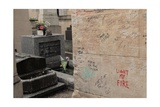 Jim Morrison Tomb in Pere Lachaise Cemetery Paris