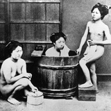 Japanese Bathing  C1860-80