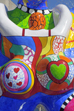 Detail of Lifesaver Fountain by Niki De Saint Phalle  Duisburg  Germany
