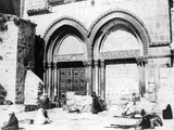 Entrance to the Church of the Holy Sepulchre  1865