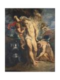 Saint Sebastian Tended by Angels  1601-02