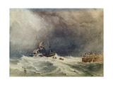 A Shipwreck Near a Jetty  1837