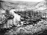 Balaklava Harbour During the Crimean War  C1855