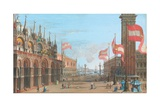 View of St Mark's Square  Venice  with the Palazzo Ducale and Campanile  1828