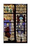 Window W210 Depicting St Denis with the Donor Charles VI
