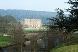 Chatsworth House from the West over the River Derwent  Derbyshire