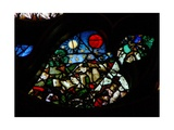 The West Rose Window Depicting a Scene from the Book of Revelation: Opening the Sixth Seal: 'The…