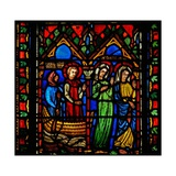 Window N1-C Depicting a Scene from the Life of St Mary Magdalene - She Arrives at Marseilles