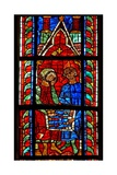 Window W210 Depicting Tric-Trac Players