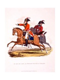 Uniforms of an Aide De Camp  and of a Brigade Major of Cavalry  from 'Costume of the British…