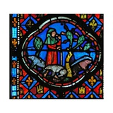 Window Ew-L Depicting a Scene from the Prodigal Son Story: He Looks after Pigs and Thinks