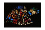 The West Rose Window Depicting a Scene from the Book of Revelation: Four Angels of the Euphrates…