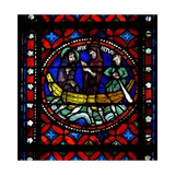 Window S1-R Depicting a Scene from St Bonnet's Journey to Rome and Adventures
