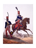 Uniforms of the 5th Hussars Regiment  from 'Collection Des Uniforms De L'Armee Francaise' …