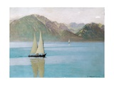 Boat on Lake Geneva  1892