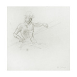 Female Figure  Holding Paddle  Study for 'Boulter's Lock  Sunday Afternoon'  C1880