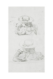Two Studies of Head and Shoulders of Female Figure  Wearing Hat  Study for 'Boulter's Lock …