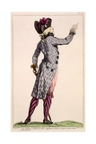 Young Officer in a Zebra Coat  Print Made by Dupin  1789