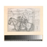 Sir Isumbras at the Ford: Sketch for the Composition  C1856