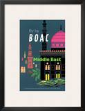 British Overseas Airways Corporation: Fly by BOAC - Middle East  c1954