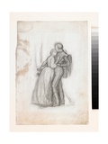 Study for the Figures in the Black Brunswickers  C1860