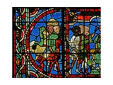 Window W11-L Depicting a Scene from the Story of Joseph: His Brothers Beg Benjamin to Return with…