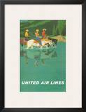 United Air Lines: Horse Back Riders  c1960s