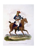 Uniform of a Private of the 15th or King's Light Dragoons (Hussars)  from 'Costume of the British…